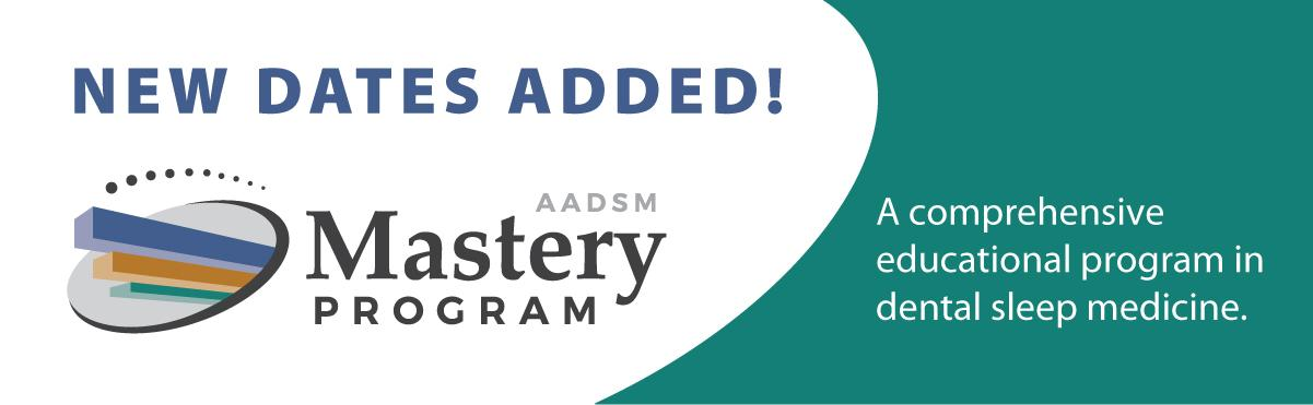 AADSM Mastery Program - New Dates Added!