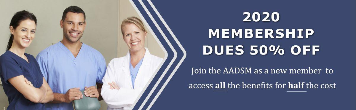 2020 Membership Dues 50% Off